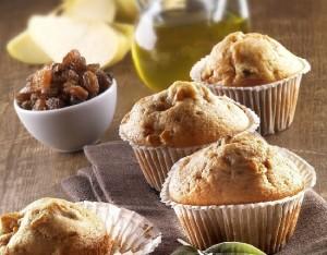 Muffin con uvette e mele all'olio EVO...