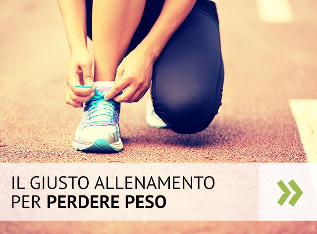 Il giusto allenamento per perdere peso