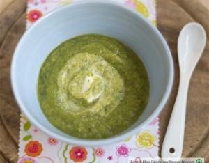 Crema primaverile di asparagi e zucchine