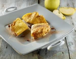 Crepes con mele al forno speziate