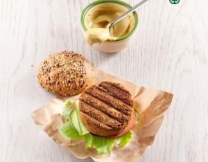 Sandwich con burger di lenticchie