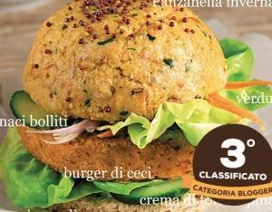Hamburger di panzanella e ceci