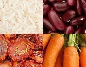 Insalata tricolore di riso basmati