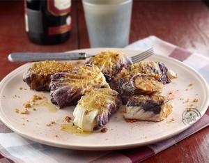 Involtini di radicchio con fagioli cannellini alla paprika dolce