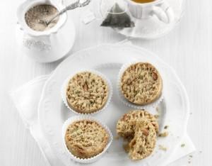 Mini-sbrisolona con farina di riso, miglio, mandorle e pistacchi