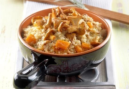 quinoa zucca e finferli