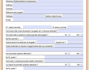 La scheda di valutazione per gli insegnanti