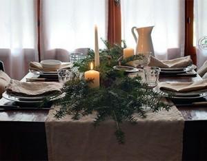 La tavola del Natale rustico