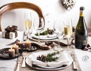 La tavola del Natale romantico