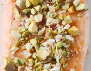 Salmone con anacardi e pistacchi