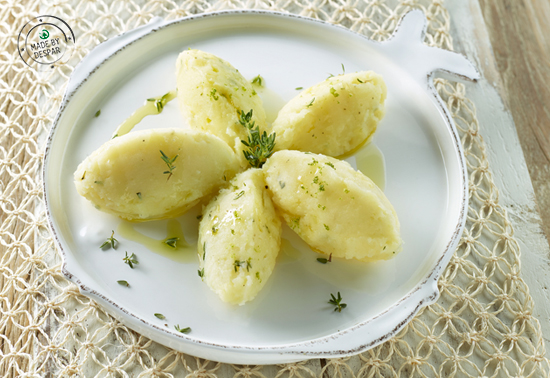 Quenelle di patate al timo e lime