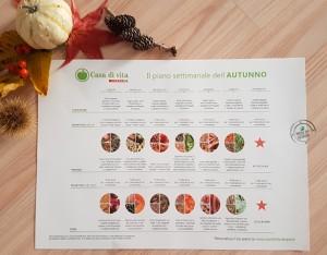 Il piano settimanale alimentare dell'autunno: è gratis per te!