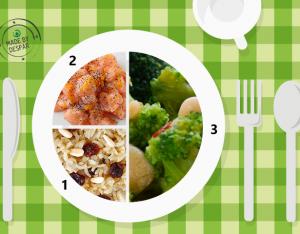 Piatto unico: broccoli con uvetta, riso integrale, salmone