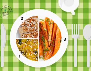 Piatto unico: carote, sformato di miglio, pollo al forno
