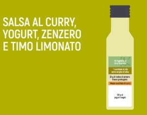 Salsa al curry, yogurt, zenzero e timo limonato