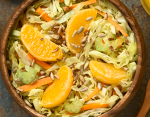 Verza in insalata di arance e sedano