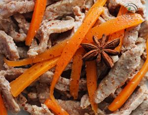 . Vitello marinato all'arancia e carote