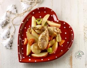 Coscette di pollo alle mele e verdure