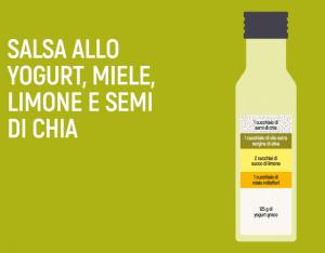Salsa allo yogurt, miele, limone e semi di chia