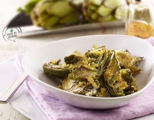 Carciofi al curry gratinati al forno