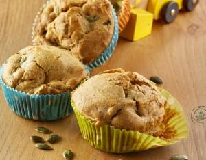 Muffin agli asparagi con semi di zucca