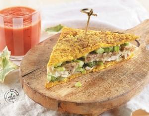Panino unico: club sandwich integrale agli asparagi e tacchino con maionese alla maggiorana