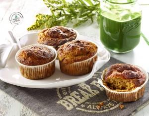 Muffin alla ricotta e mele con frutta secca e cannella