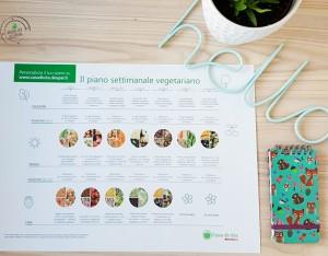 Il piano settimanale vegetariano è gratis per te