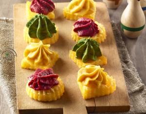 Polentine tricolori al forno