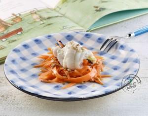 Involtini di sogliola e carote