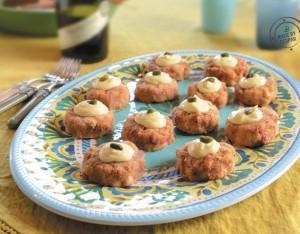 Mini burger di cannellini e pomodori secchi