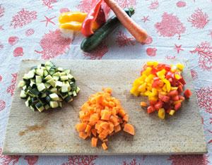 Pulisci e cucina le verdure
