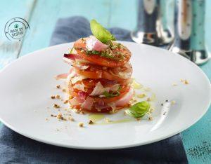 Millefoglie di pomodori e cipolla di Tropea