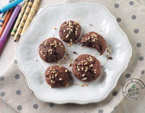 Biscotti al cacao, nocciole e cocco