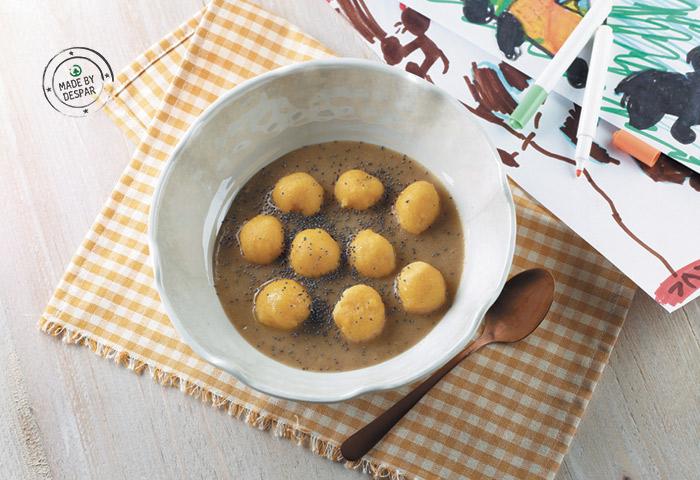 Gnocchetti di polenta alla crema di funghi