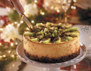 Cheesecake al kiwi e cioccolato