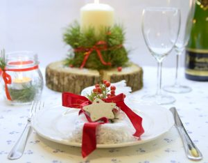 La mia tavola di Capodanno, green e scintillante