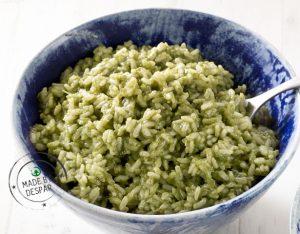 Riso verde con lattuga
