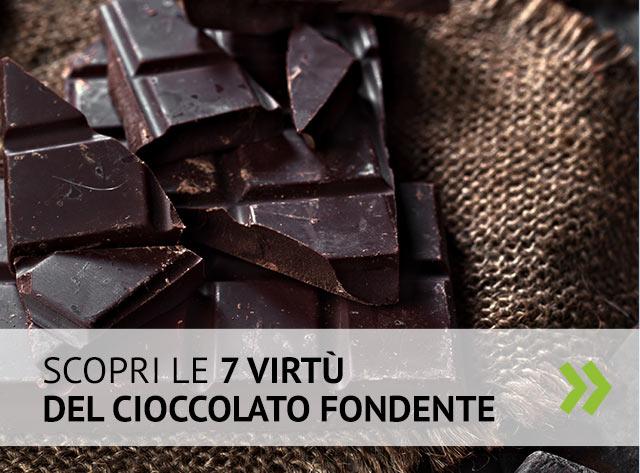 Scopri 7 virtù del cioccolato fondente