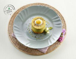 Cheesecake di asparagi e uova di quaglia