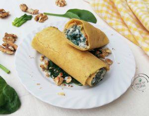 In cucina con la Redazione: come preparare i cannoli di mais con spinaci, caprino e noci