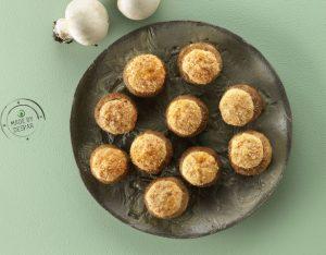 Funghi ripieni di ricotta alla paprica