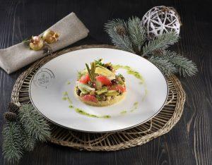 Insalatina invernale con ceci e verdure al pompelmo