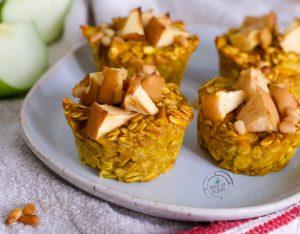 Muffin di avena, mela e curcuma