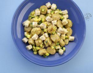 Gnocchi di cous-cous integrale con ricciola, zucchine, menta e zafferano