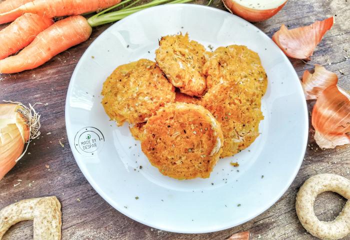 Rosti di carote e cipolle