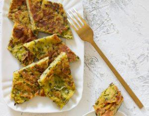 Frittata con farina di ceci e zucchine